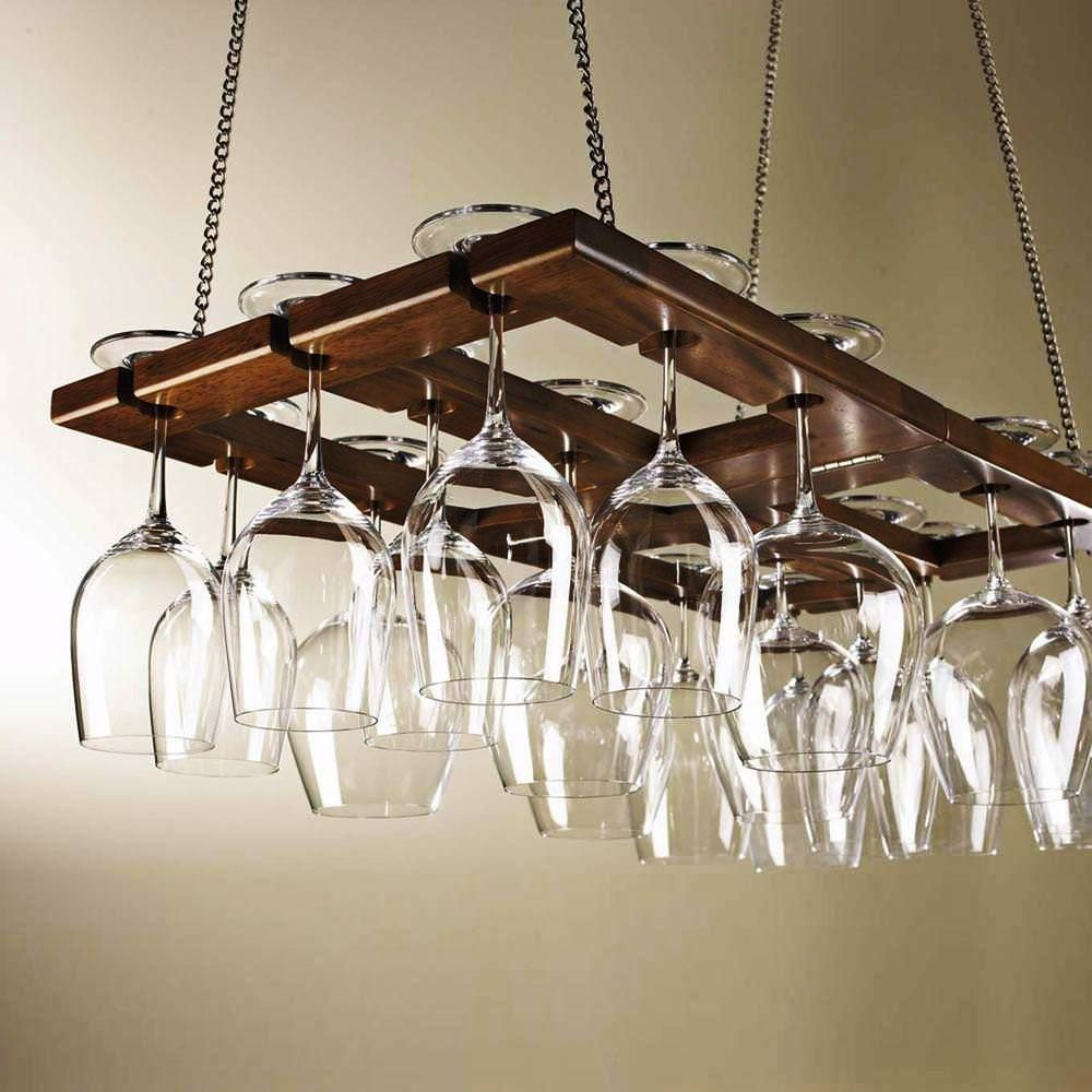 Image Of Diy Ceiling Wine Glass Rack In 2019 Hanging Wine