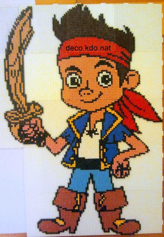 Deco kdo nat perles hama jake le pirate bricolage - Jack et le pirate ...