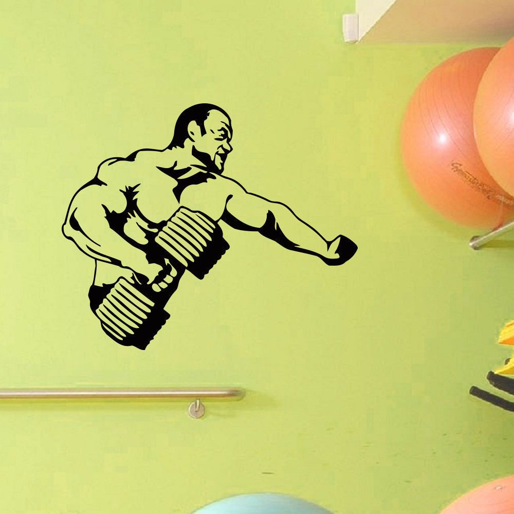 Gym Decor Bodybuilder Fitness Vinyl Wall Art Decal Sticker | gym ...