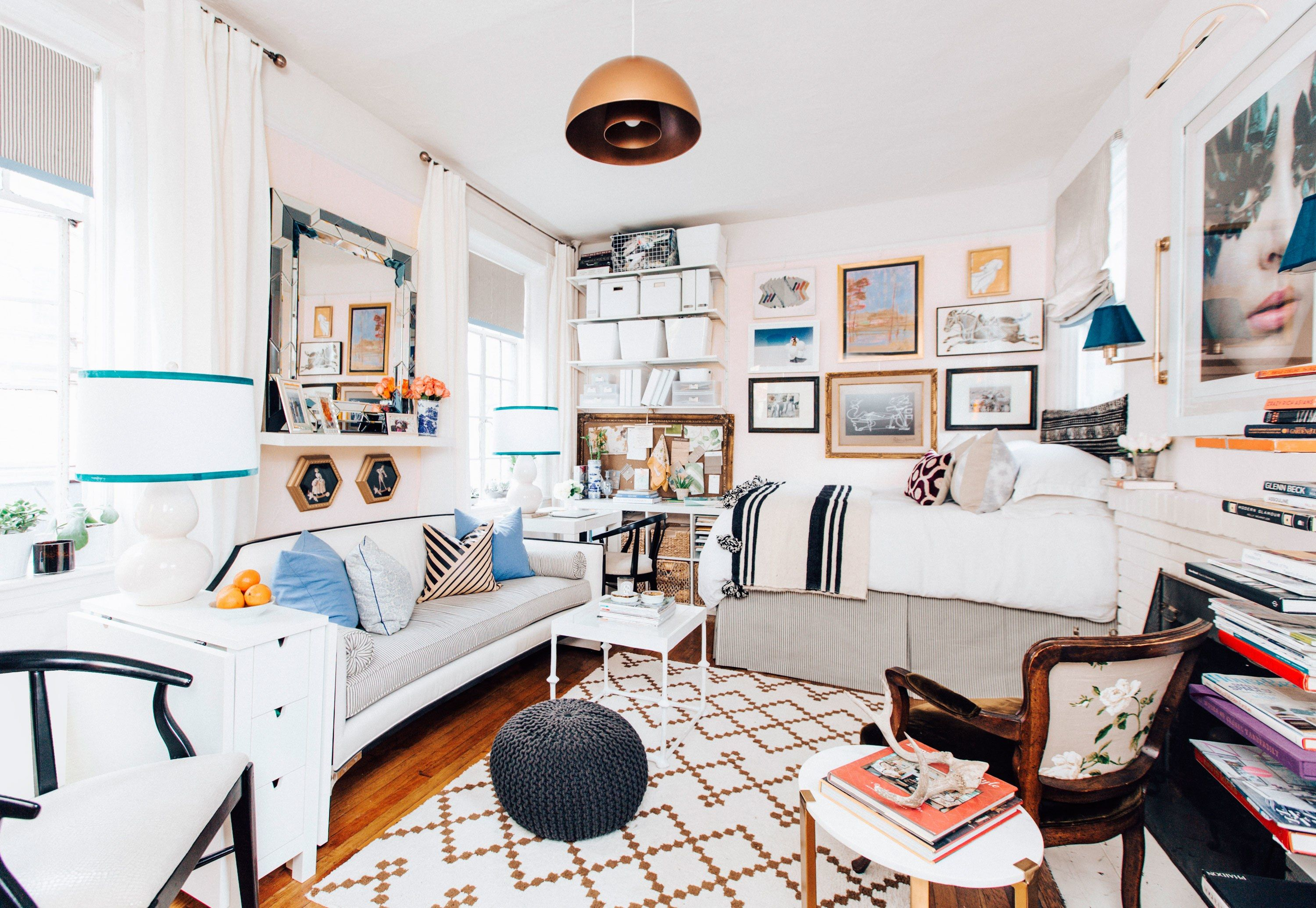 House Tour: A Small-Space Apartment for Work and Play ...