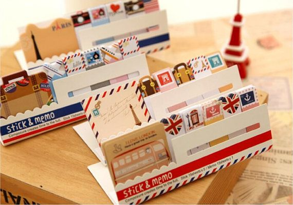 Travel Sticky Notes / Stick & Memo / Cute Stationery