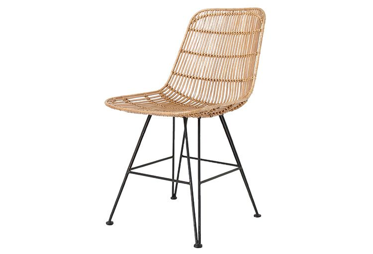Natural Rattan Dining Chair By Hk Living Hand Braided Rattan Chair With Natural Finish Chair Legs Are Made Of Rattan Dining Chairs Rattan Chair Dining Chairs