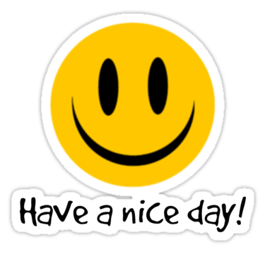 Have A Nice Day Sticker By Gretzky In 2021 Good Day Stationery Art Day