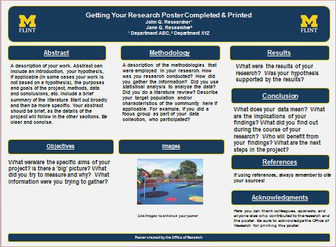 Research Poster Template 36x48 Presentation 36 X For Scientific