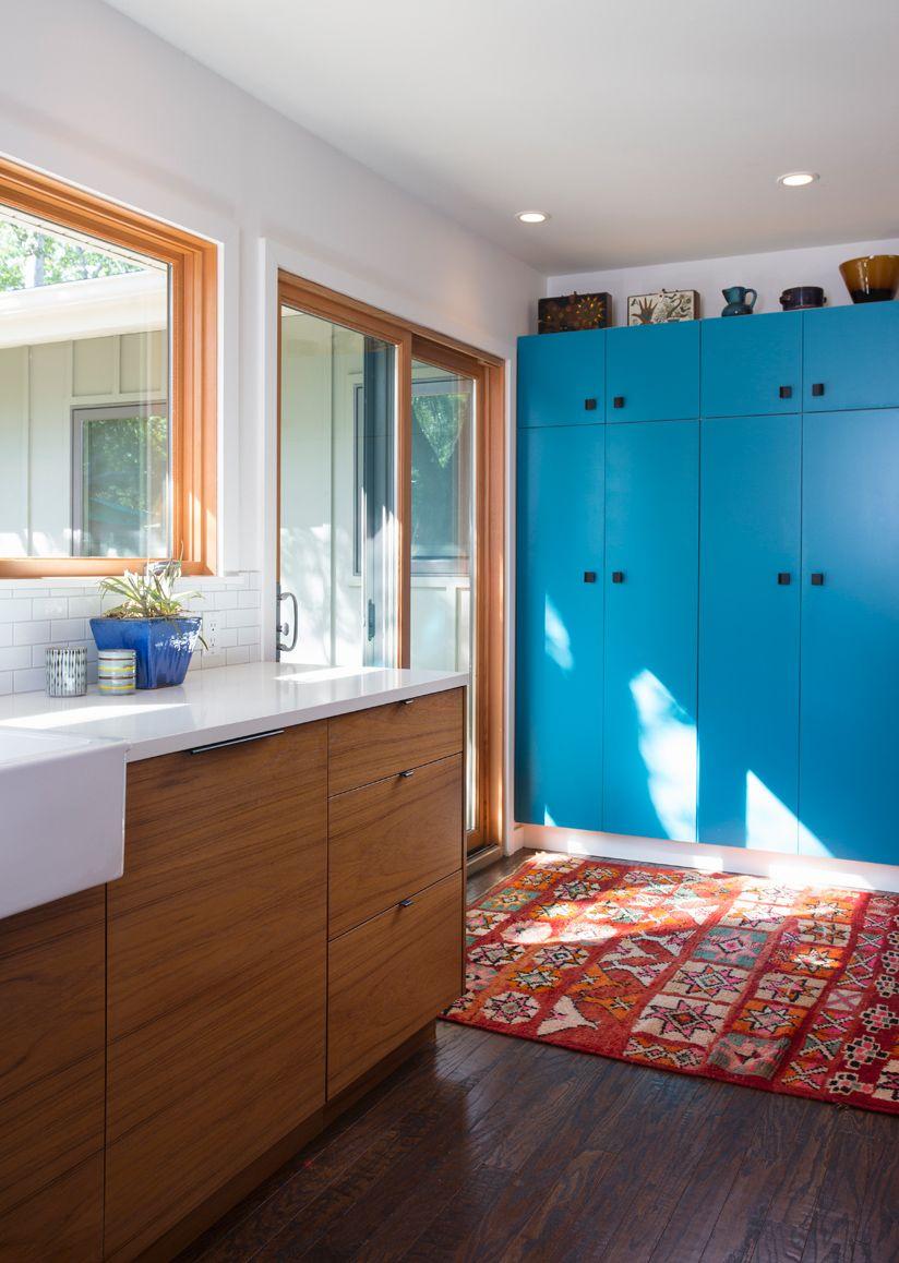 Amy & Tobin\'s kitchen w/ Semihandmade cabinet fronts in Teak ...
