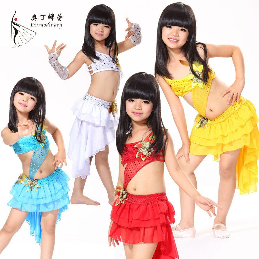 d2e2bc62f5fe9 Pas cher Promotion de noël enfants latine Samba Dance latine robes Salsa  Dance Costumes vêtements pour enfant petites filles robe de danse