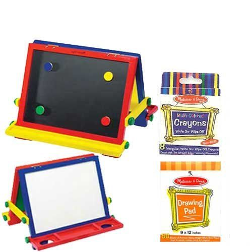 Melissa Doug Table Top Easel With Easel Pad And Crayons 53 95