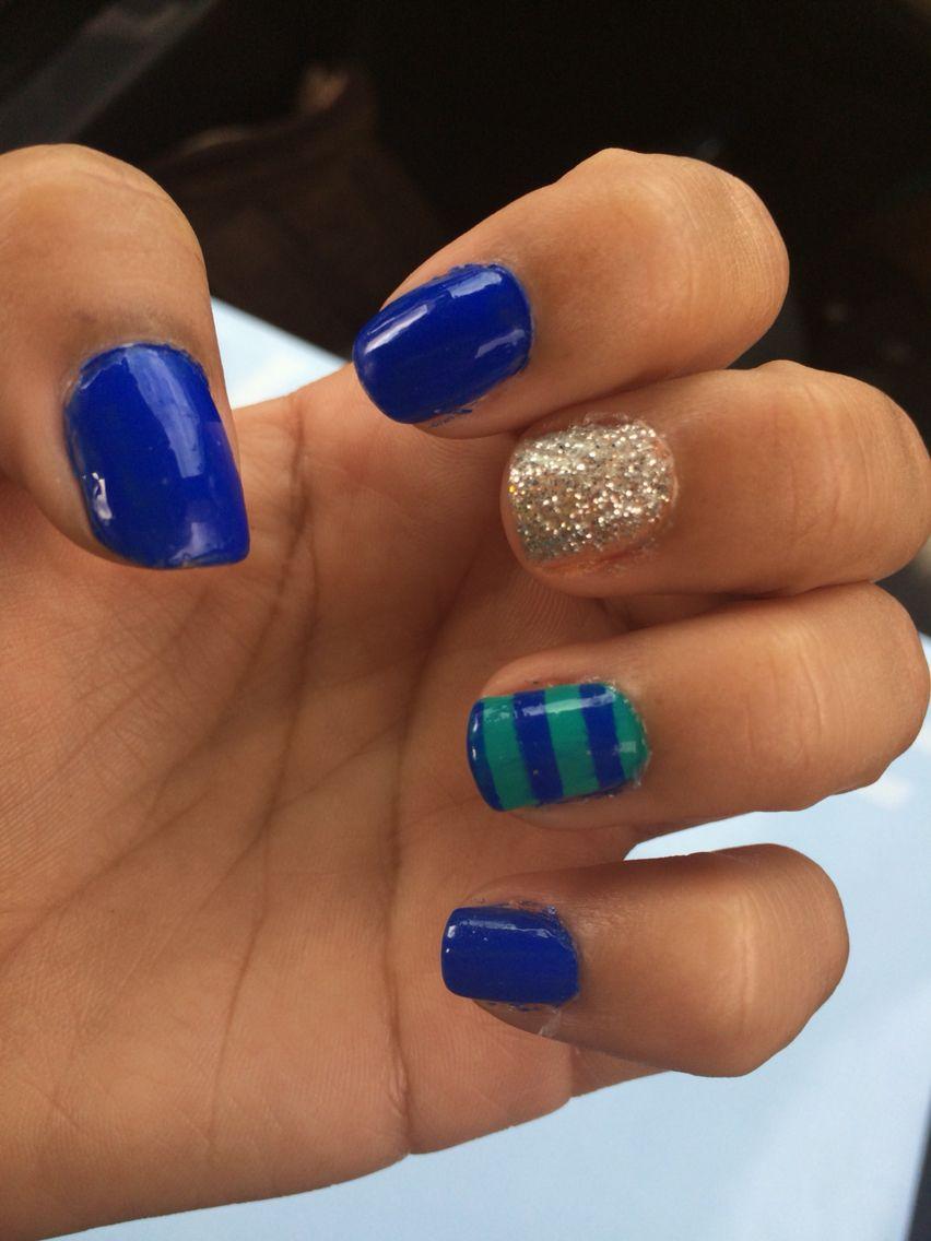 Uñas azul-menta | uñas | Pinterest | Uñas azules, Menta y Azul