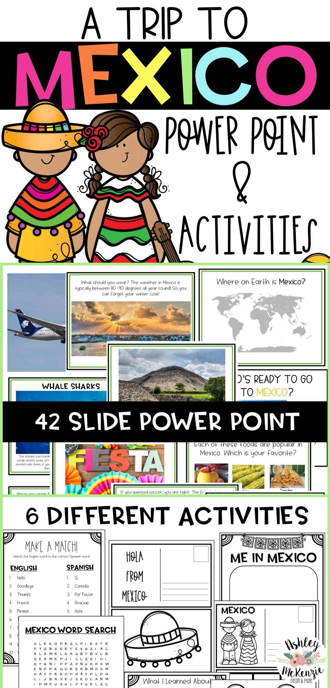 Trip To Mexico Power Point Amp Activities Pack