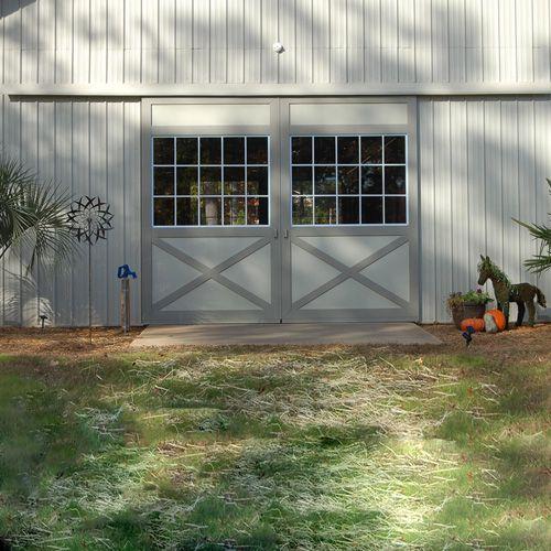 Barn Doors - Gl Panel #ramm #horse #farm #equine #farmhouse ... on