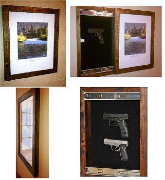 how to make a hidden gun picture frame