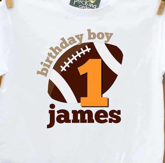 FOOTBALL PERSONALISED NAME Sport Printed T Shirt Kids Cute Gift Toddlers Boys