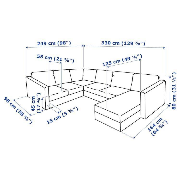Ikea Vimle Sectional 5 Seat Corner Corner Sofa Set Corner Sofa Bed Living Room Corner