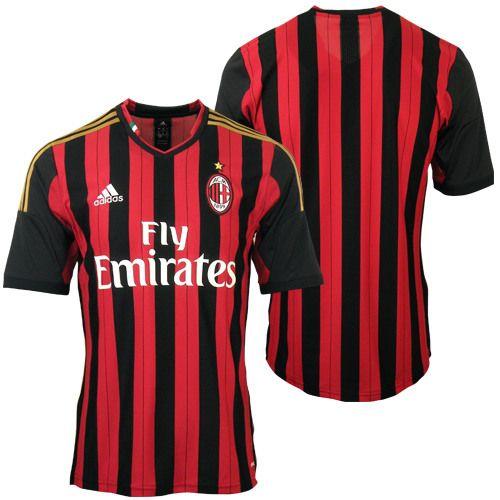 Adidas Maglia Milan Calcio Calcetto Originale 2013/2014 Climacool prima maglia