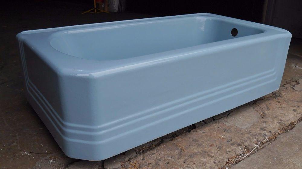 Antique Vintage American Standard Pembroke Blue Corner 60\