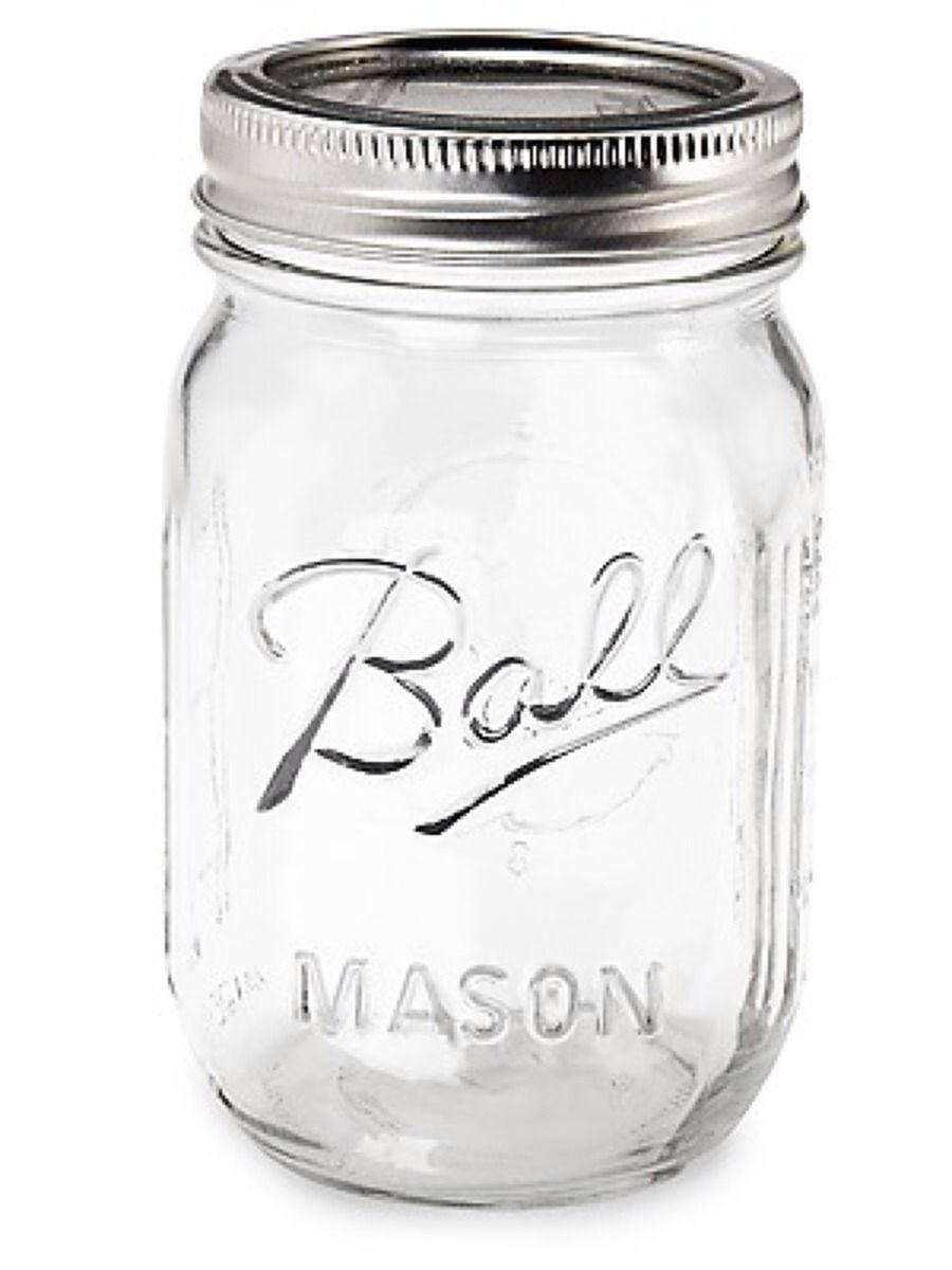 צנצנת Ball 500 מ ל שקופה Wedding Diy Pinterest Jar