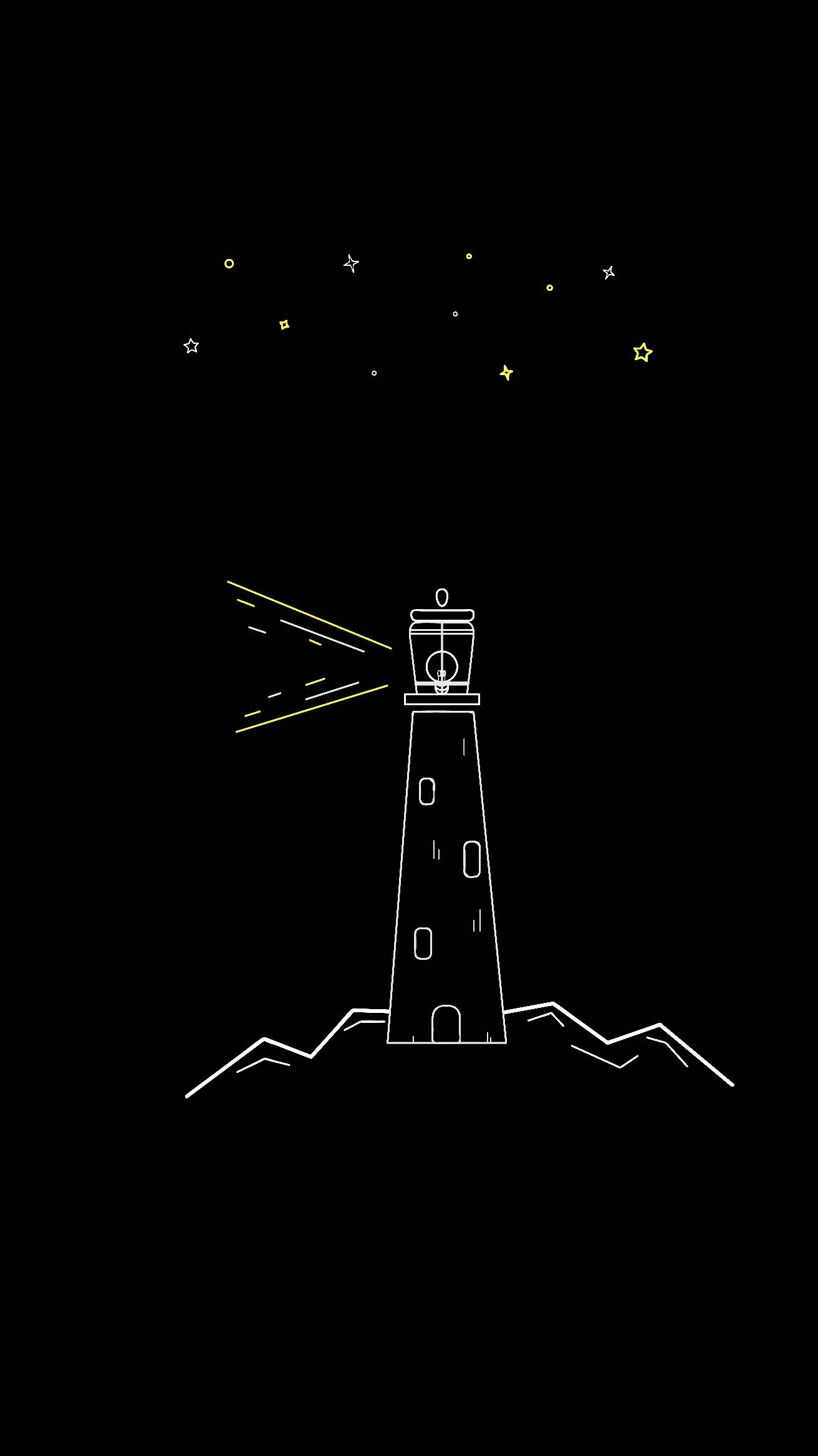 Light House Minimalist Wallpaper Black Paper Drawing Art Wallpaper Iphone