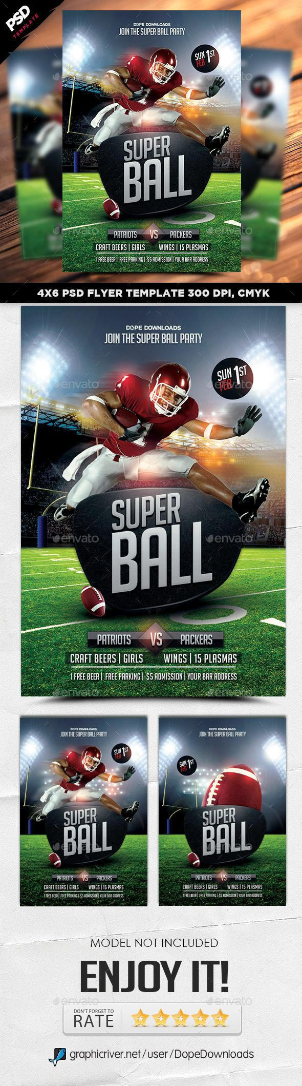 Super Ball Football Final Flyer  Football Flyers And Sports