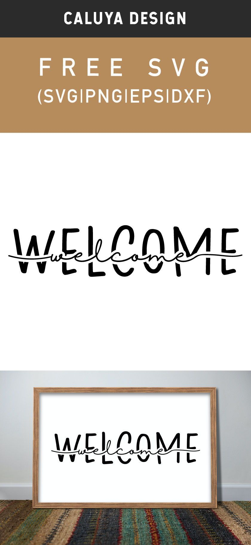 Free Knock-Out Welcome SVG Cut File