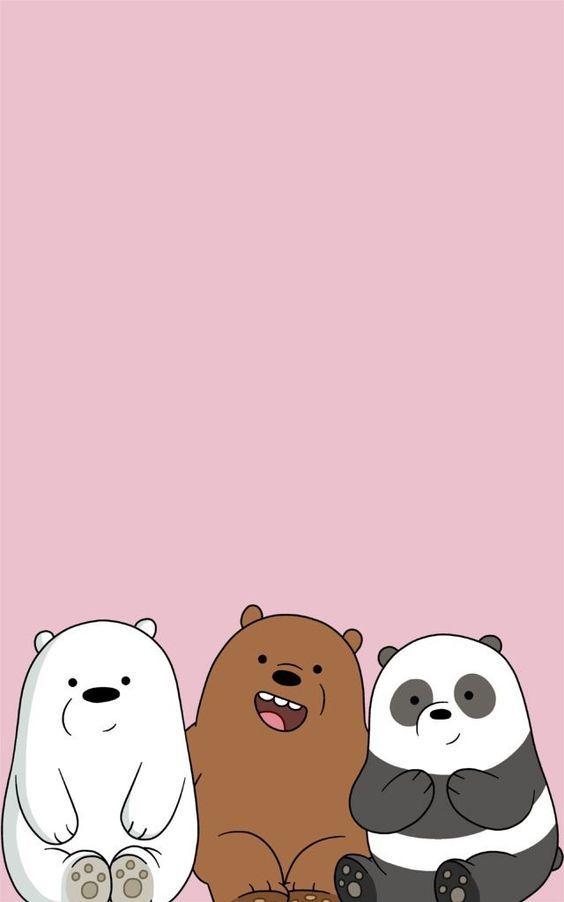 แจก 40 พ นหล งส ชมพ สวยๆ วอลเปเปอร ตกแต งม อถ อน าร ก We Bare Bears Wallpapers Bear Wallpaper Cute Cartoon Wallpapers