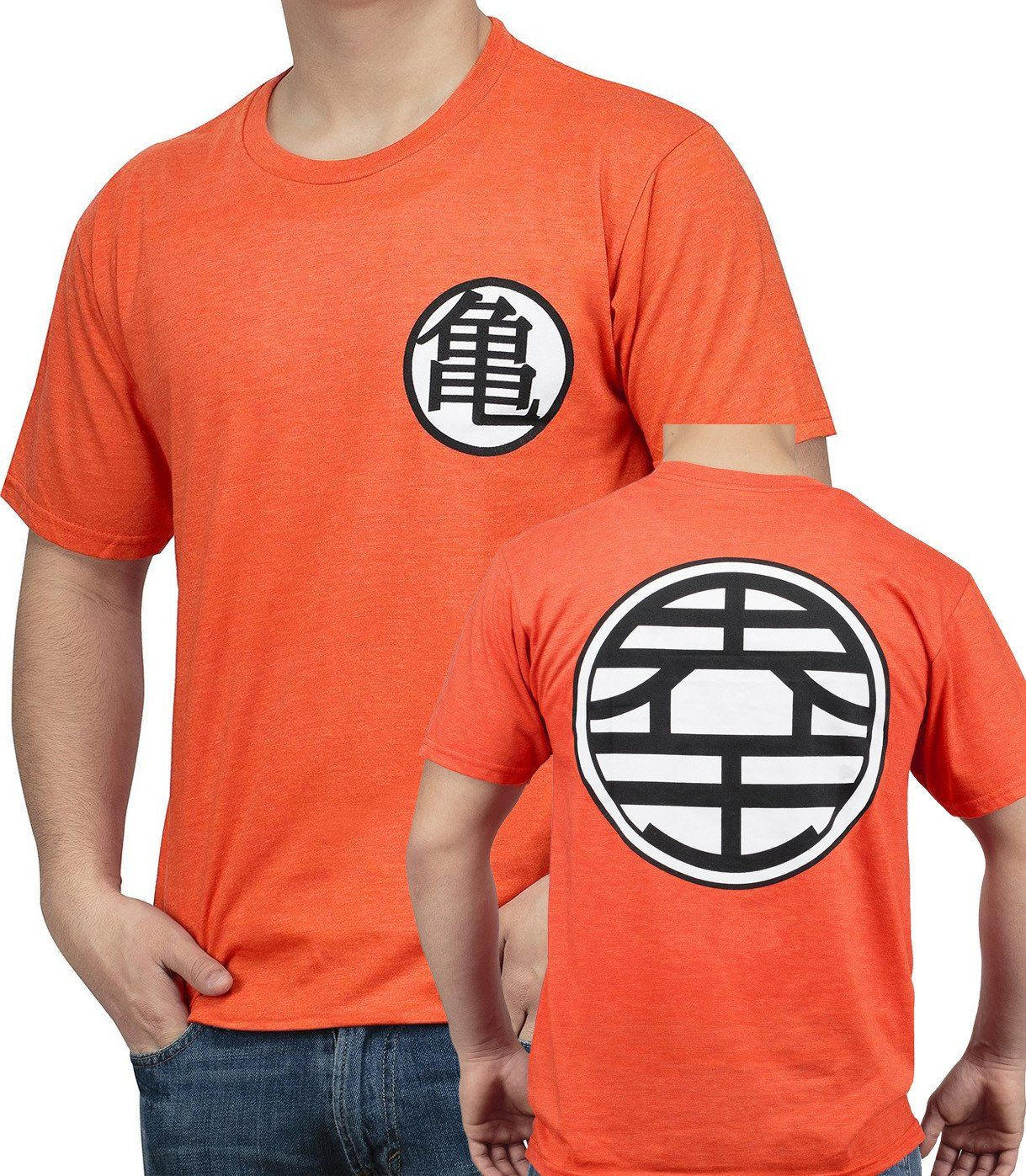 Dragon Ball Z Goku Kame Symbol T Shirt Otaku Forest Goku T Shirt Balls Clothes Dragon Ball Goku