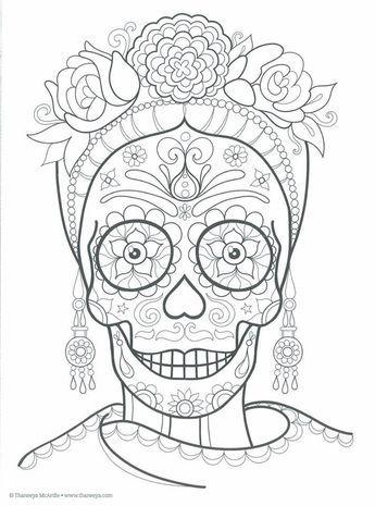 Colección más de 50 dibujos para colorear el día de los Muertos ...