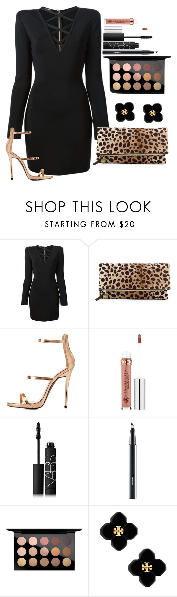 """""""Untitled #1263"""" by fabianarveloc on Polyvore featuring Balmain, Clare V., Charlotte Russe, Anastasia Beverly Hills, NARS Cosmetics, MAC Cosmetics and Tory Burch"""