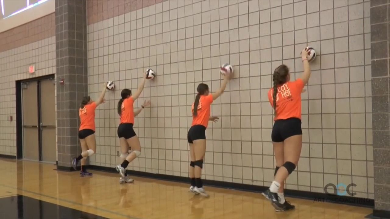 Wall Serving Progression The Art Of Coaching Volleyball Volleyball Training Coaching Volleyball Volleyball Drills