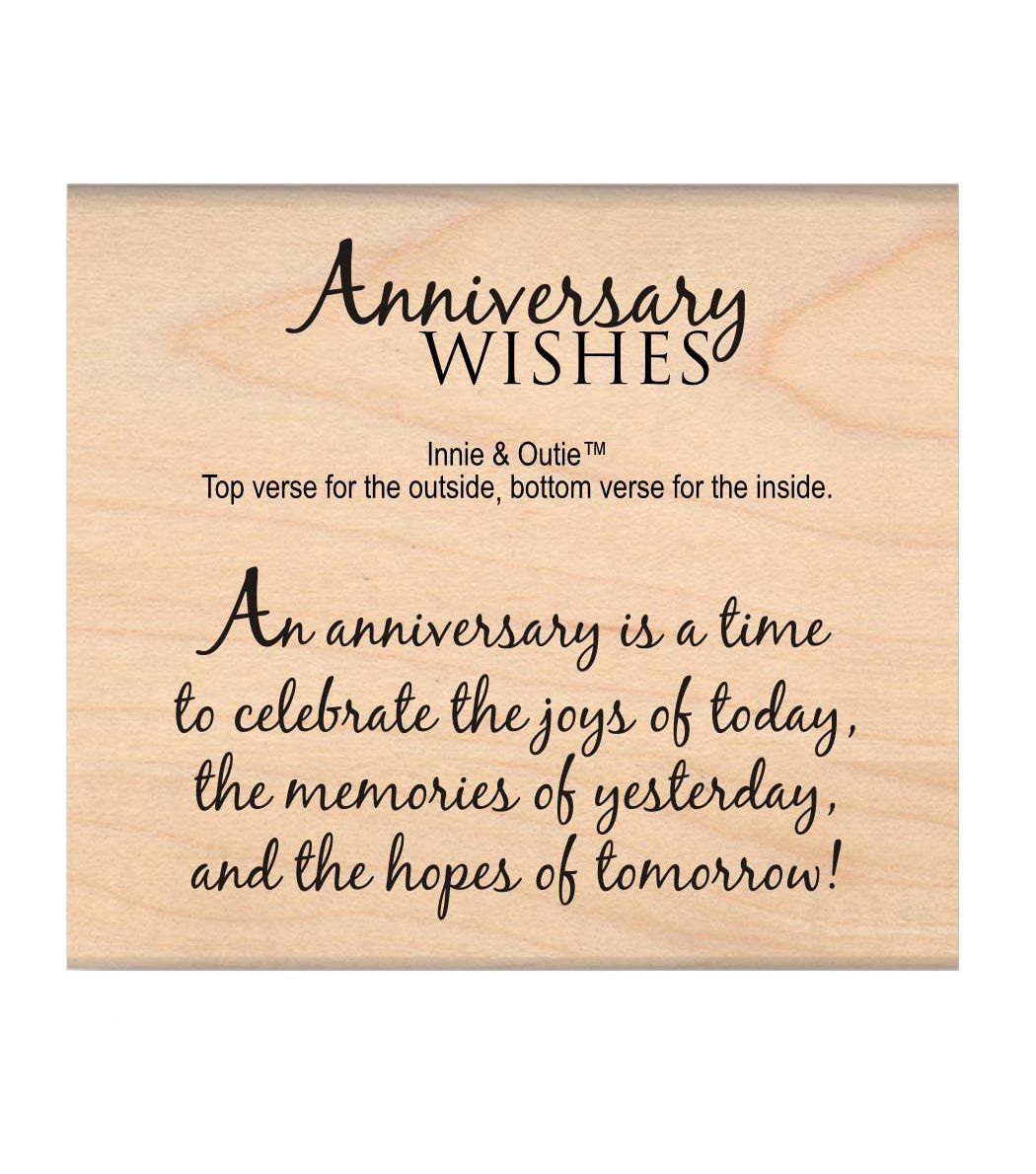 Mse My Sentiments Exactly Anniversary Wishes Mounted Stamp 2 5 X3 Joann Anniversary Card Sayings Card Sayings Verses For Cards