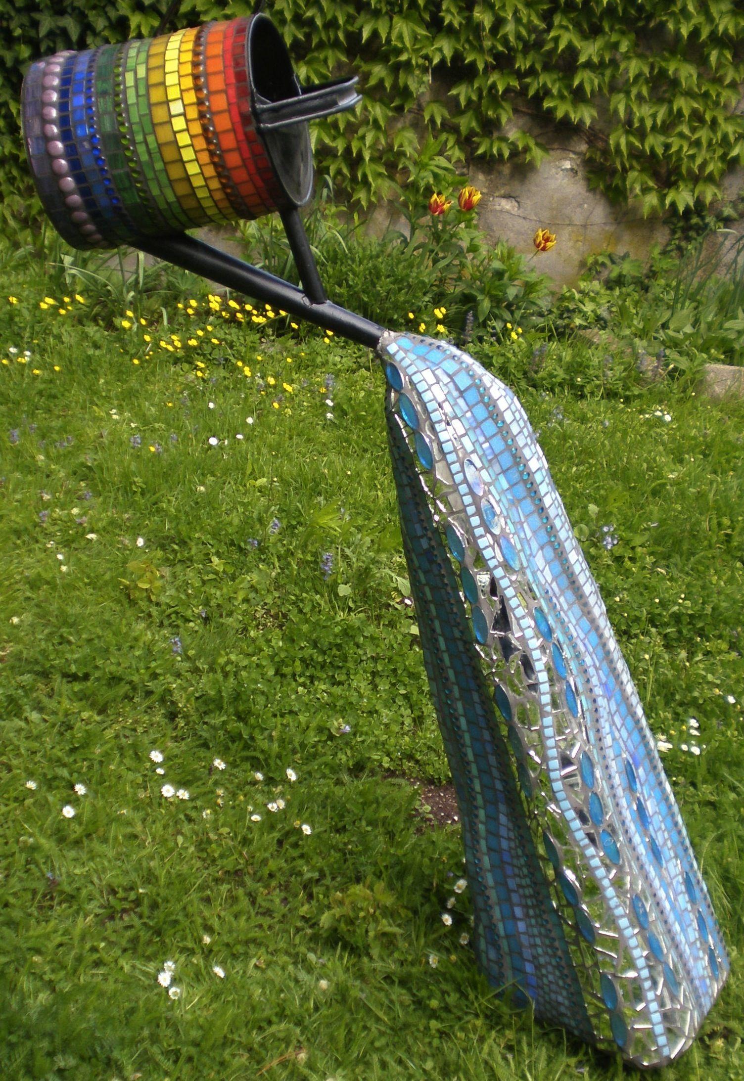watering can mosaic - Heidi Easton-Pichler   Mosaics   Pinterest ...