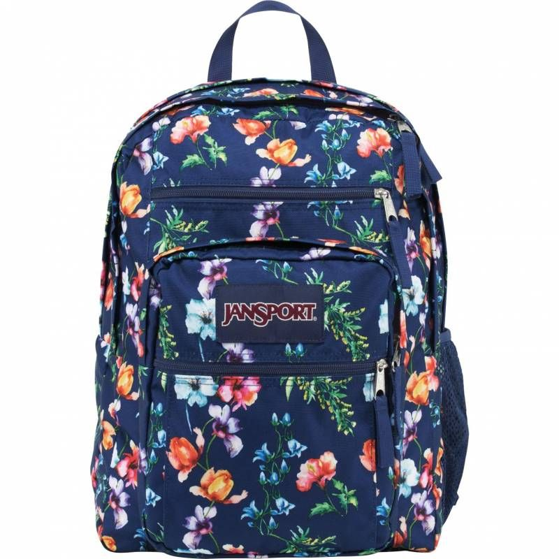 Jansport Big Student Backpack Navy Mountain Meadow Knowledge