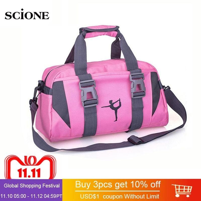 9c973f7a2a07 Yoga Mat Bag Fitness Gym Bags Sports Nylon Training Shoulder Sac De Sport  For Women Men Traveling Duffel Gymtas Sporttas XA55WA