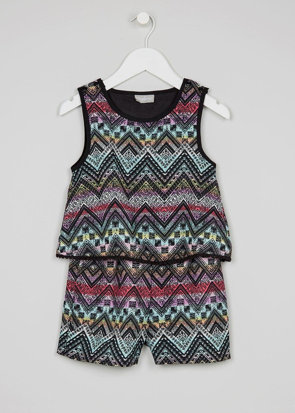Girls aztec print playsuit yrs moda pinterest playsuits