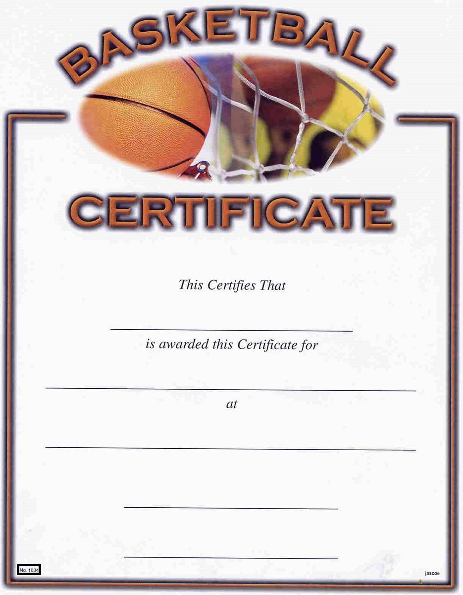 Basketball Award Certificates Kiddo Shelter Blank Certificate