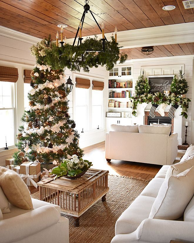 Neutral Christmas Decorating Ideas With Lots Of Whites And