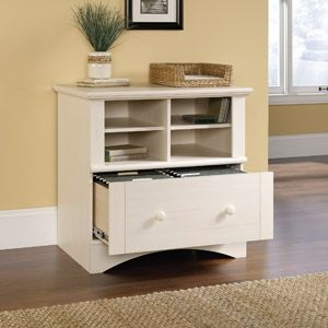 Sauder Harbor View Printer Stand And File Cabinet White Wal Mart