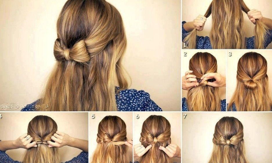 peinado-lazo-facil-e1416403121163jpg (938×564) How to draw