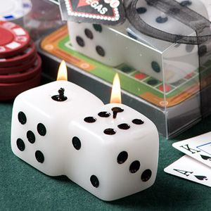Lucky Seven Dice Candle Wedding Favors