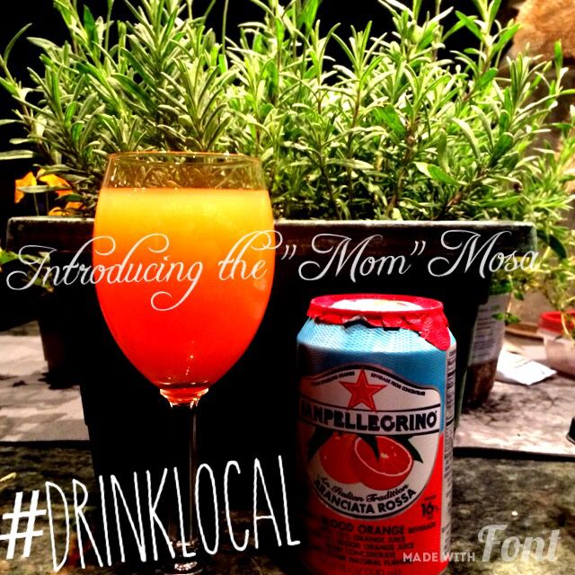 The Mom Mosa! 2pts TMV Frontenac Gris, 1pt Citrus Soda (Fresca or Blood Orange) & 1pt Orange Juice. a true taste of #WyoWine and perfect to Cheer Mom!