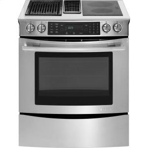 """JES9860CAS by Jenn-Air in Edwardsville, IL - 30"""" Slide-In Modular Electric Downdraft Range with Convection"""