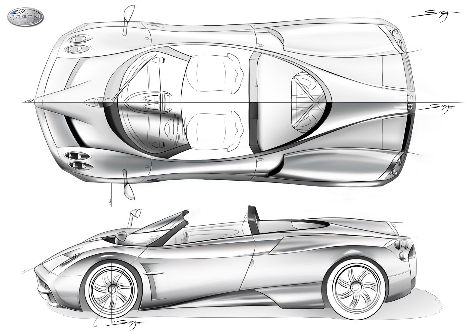 Pin De Leo Butassi En Car Design Pagani Huayra Car