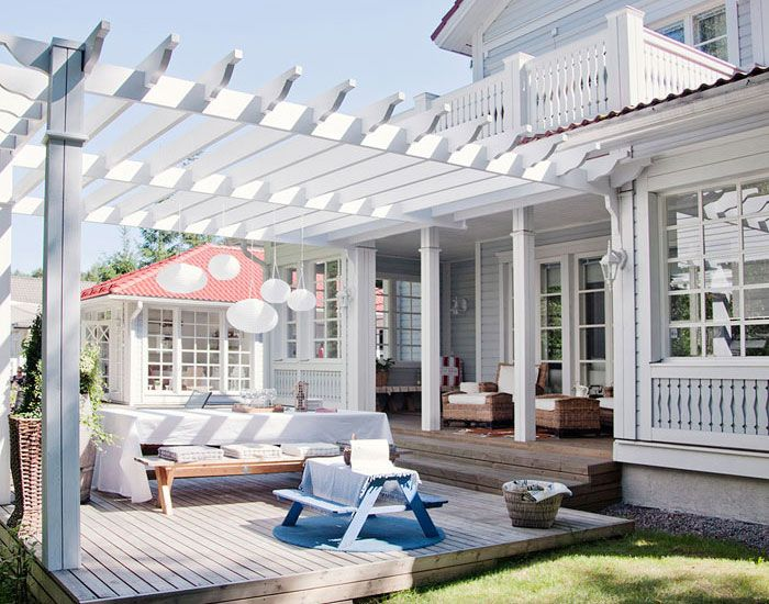 Sunny Home In Finland Pergola Outdoor Rooms Outdoor Beach Decor