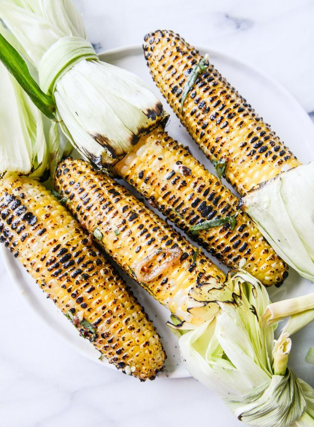 Grilled Corn with Sweet and Spicy Mustard Compound Butter.
