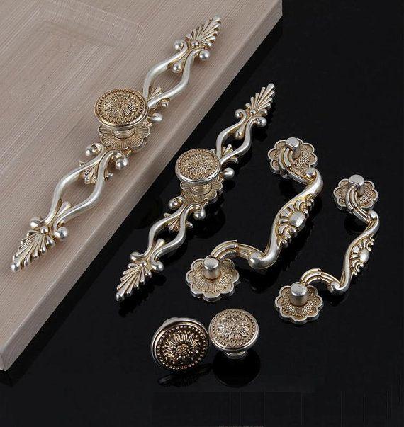 Dresser Knobs Pulls Drawer Knob Pull Handles Antique Silver Kitchen Cabinet Handles  Knobs Door Handle Cupboard