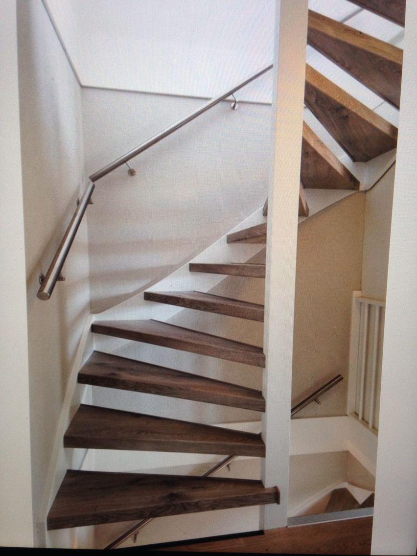 Magnifiek Open trap idee | Scari - Loft spaces, Stair steps en Stairs @RO77