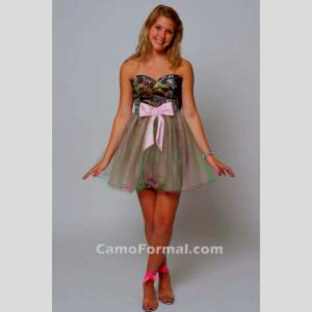 Camo Formal Dress Would Be So Cute For Bridesmaids Dresses Prom