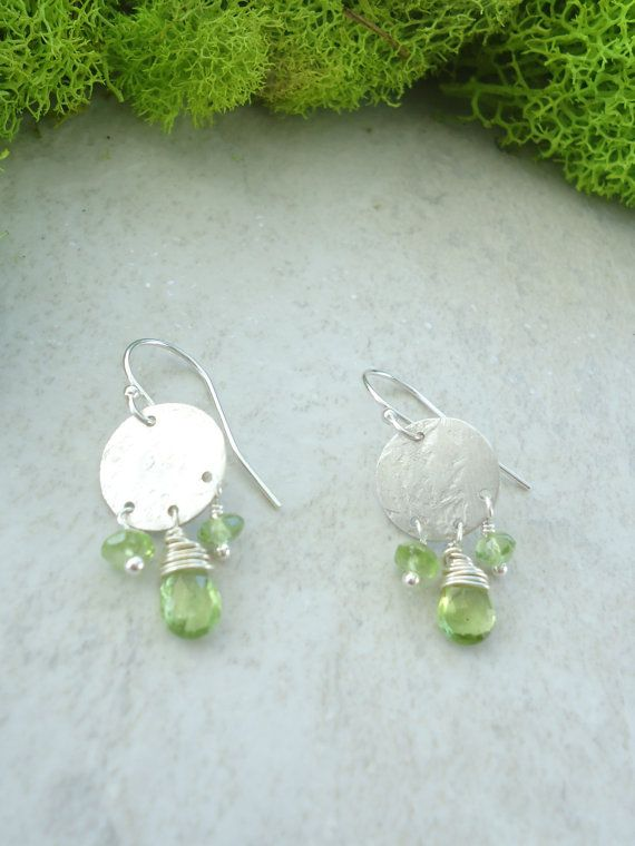 Sugar Drop Earrings  ~peridot and sterling silver Found on EmilyClaireStudio.com