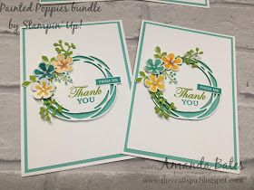 The Craft Spa - Stampin' Up! UK independent demonstrator - Order Stampin Up in UK: Painted Poppies Thank You cards and Round up...