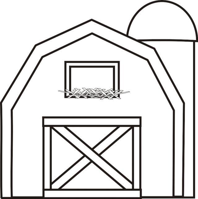 Coloring page barn | Handicrafts and worksheets for ...