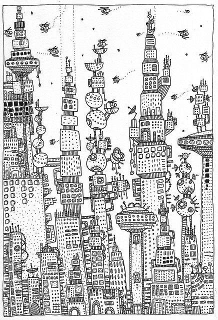 Skyscrapers | Sketches | Pinterest